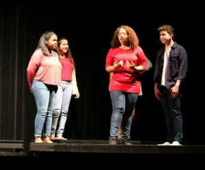 Girls jerk off theatre