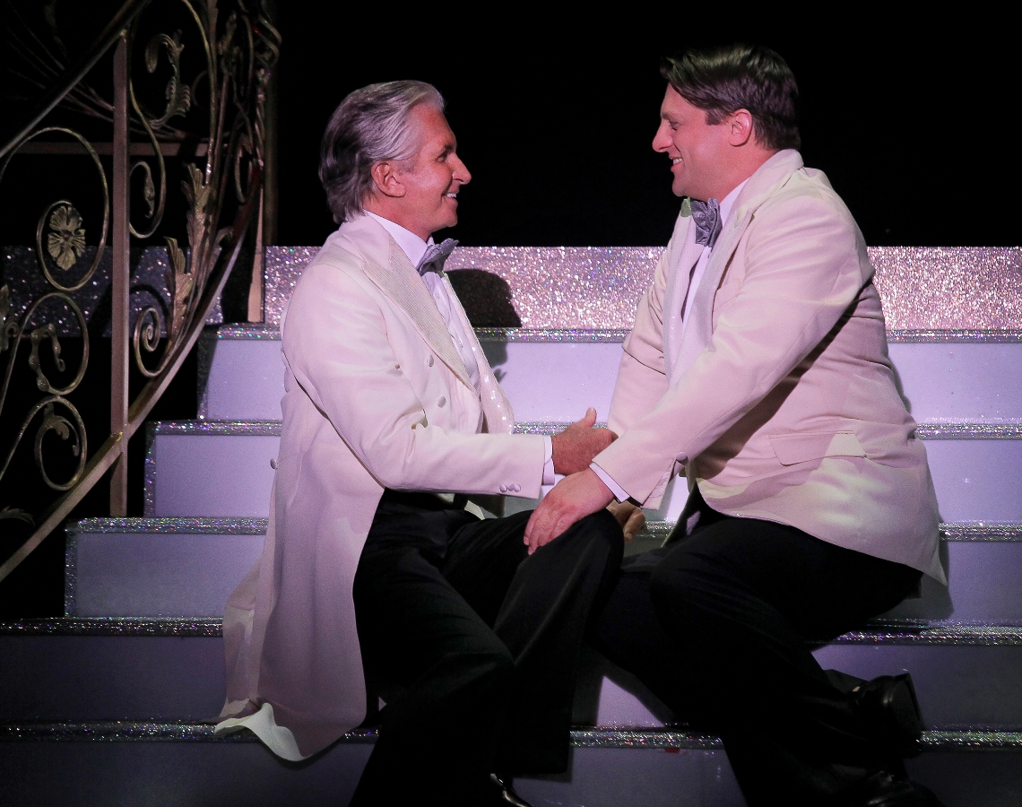 George Hamilton and Christopher Sieber in La Cage aux Folles at the Broward Center / Photo by Paul Kolnik