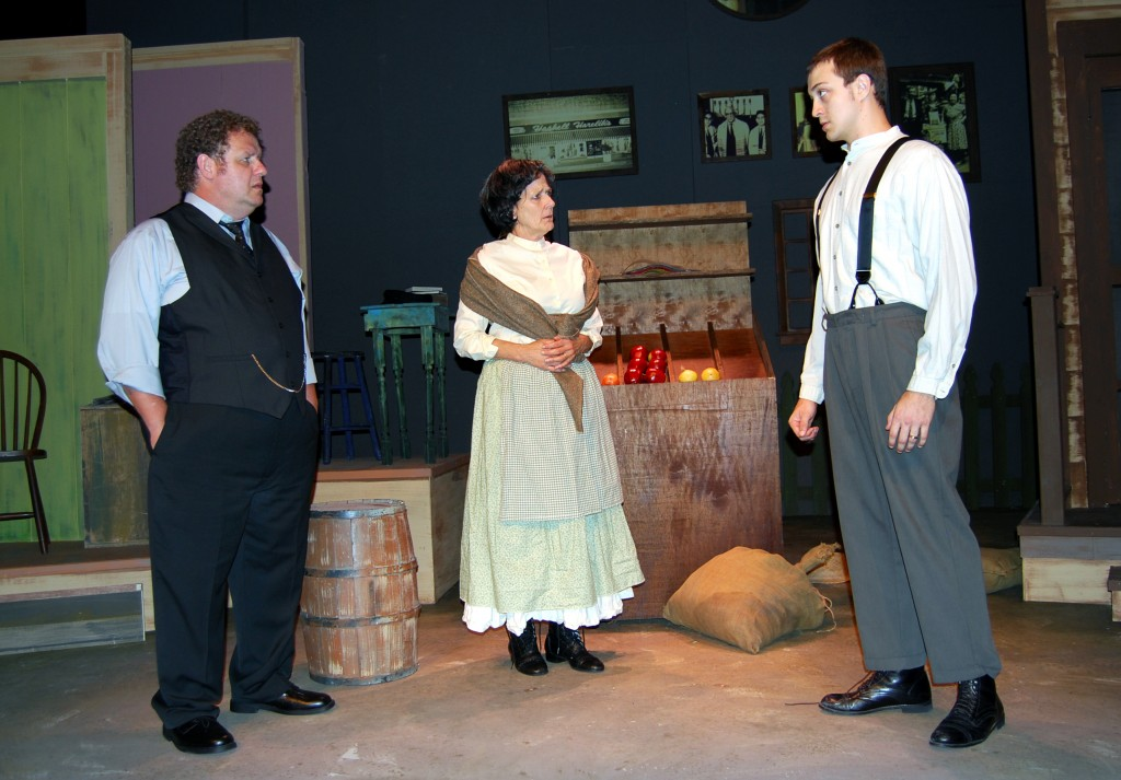 Ken Clement, Janet Weakley and Andrew Wind in The Immigrant