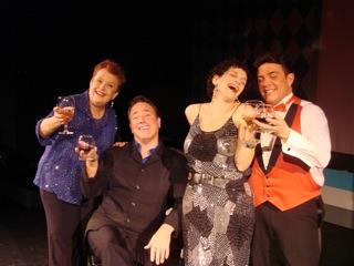 Missy McArdle, Jon Zummerman, John Lariviere  toast Irving Berlin's catalog