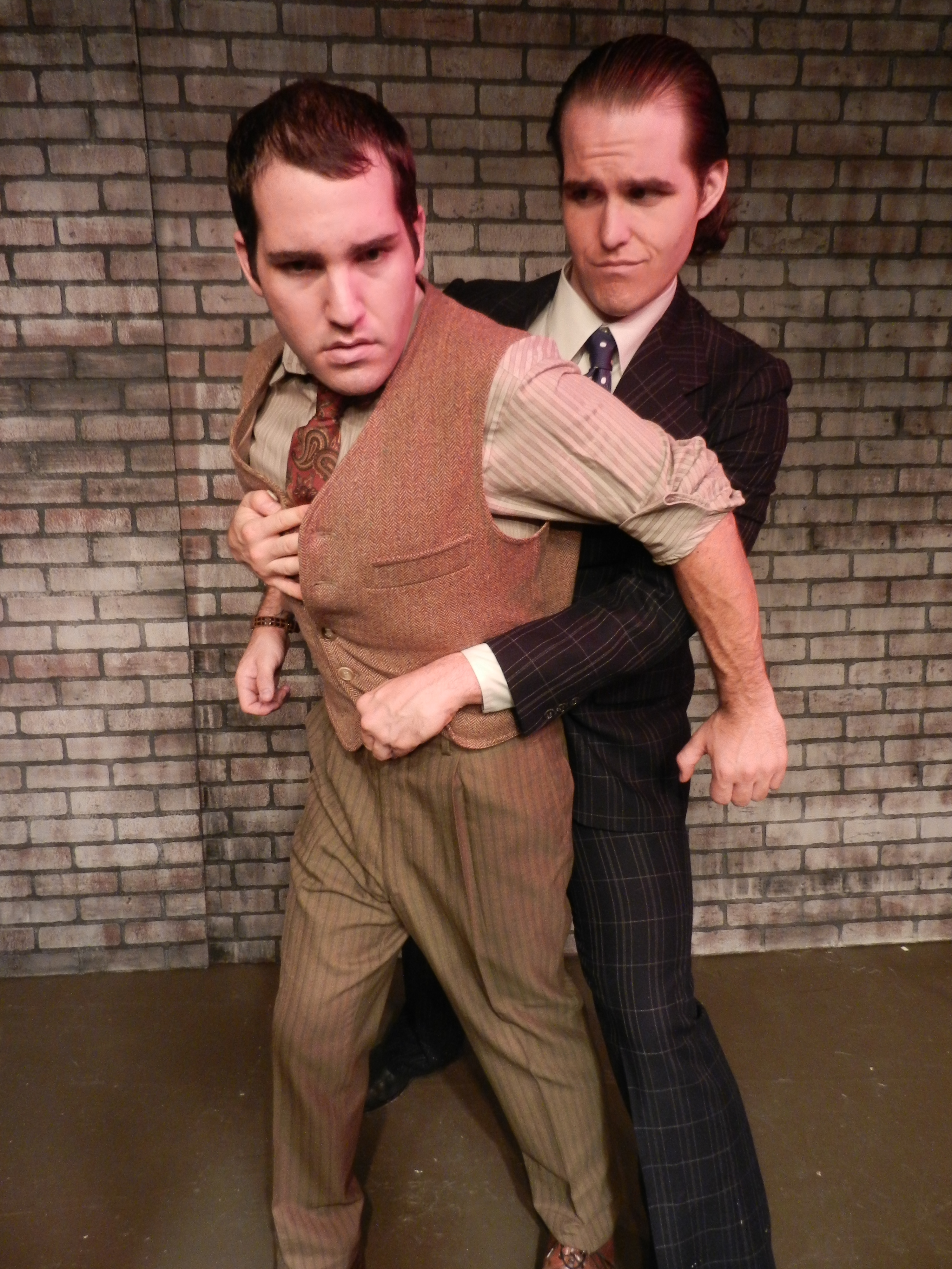 Michael Westrich and Clay Cartland, actors playing actors playing roles in The Twentieth Century Way