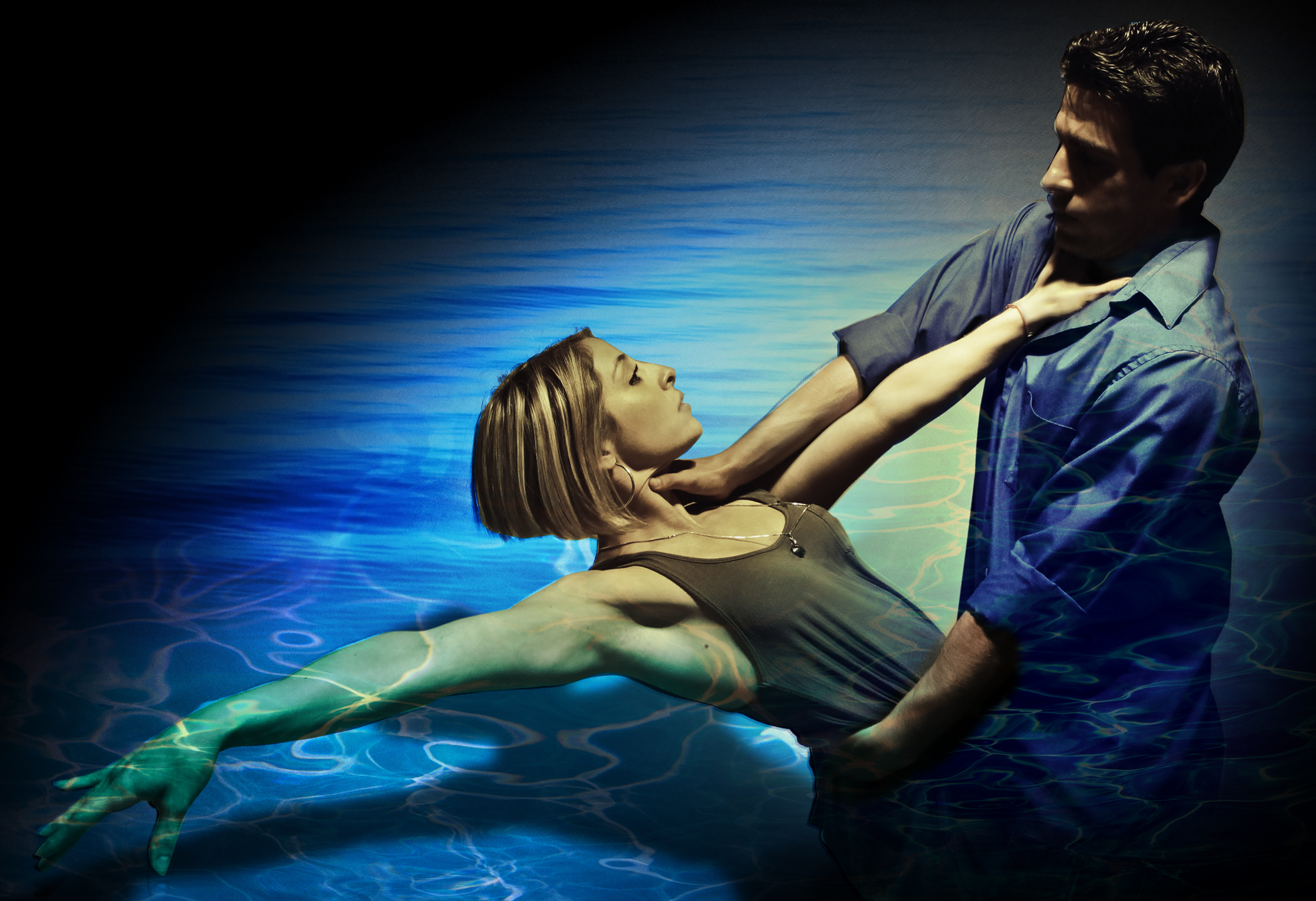 Valentina Izarra and Curtis Belz in Ground Up & Rising's Danny and the Deep Blue Sea