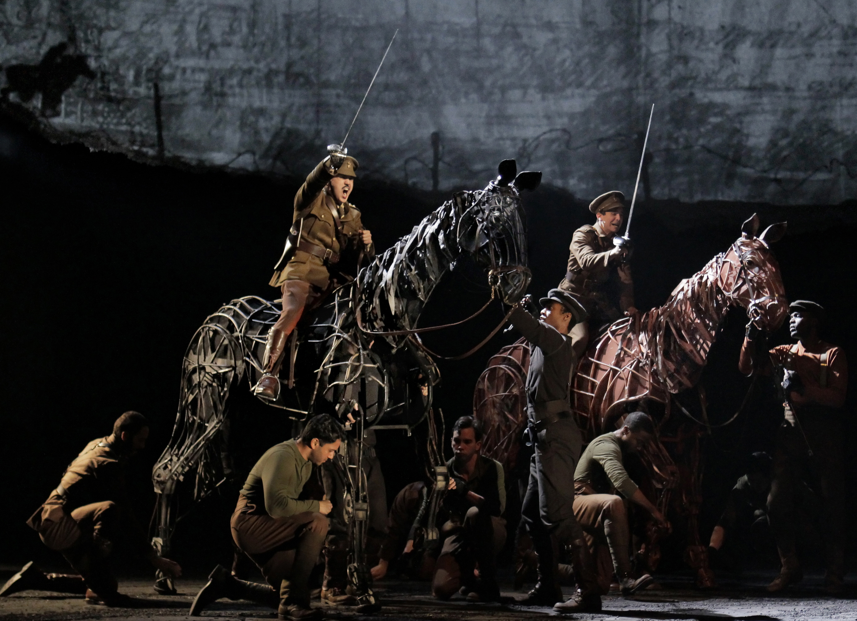 Bet on the Broadway Across America national tour of Warhorse to be the hit of the season: Photo by Paul Kolnik of the Lincoln Center production.