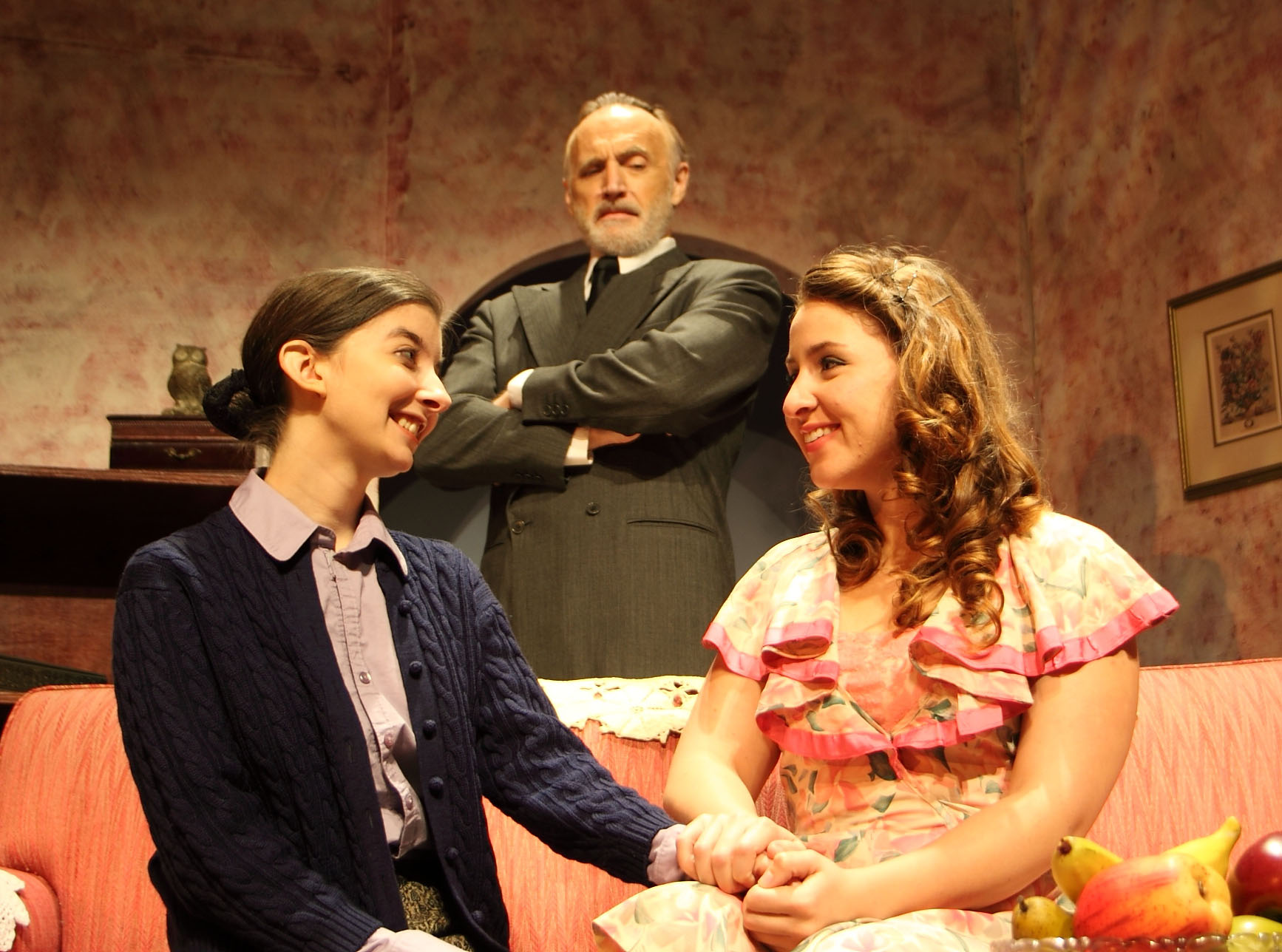 Mary Sansone, Kevin Reilley and Valerie Roche as the splintered family in Broward Stage Door's A Shayna Maidel
