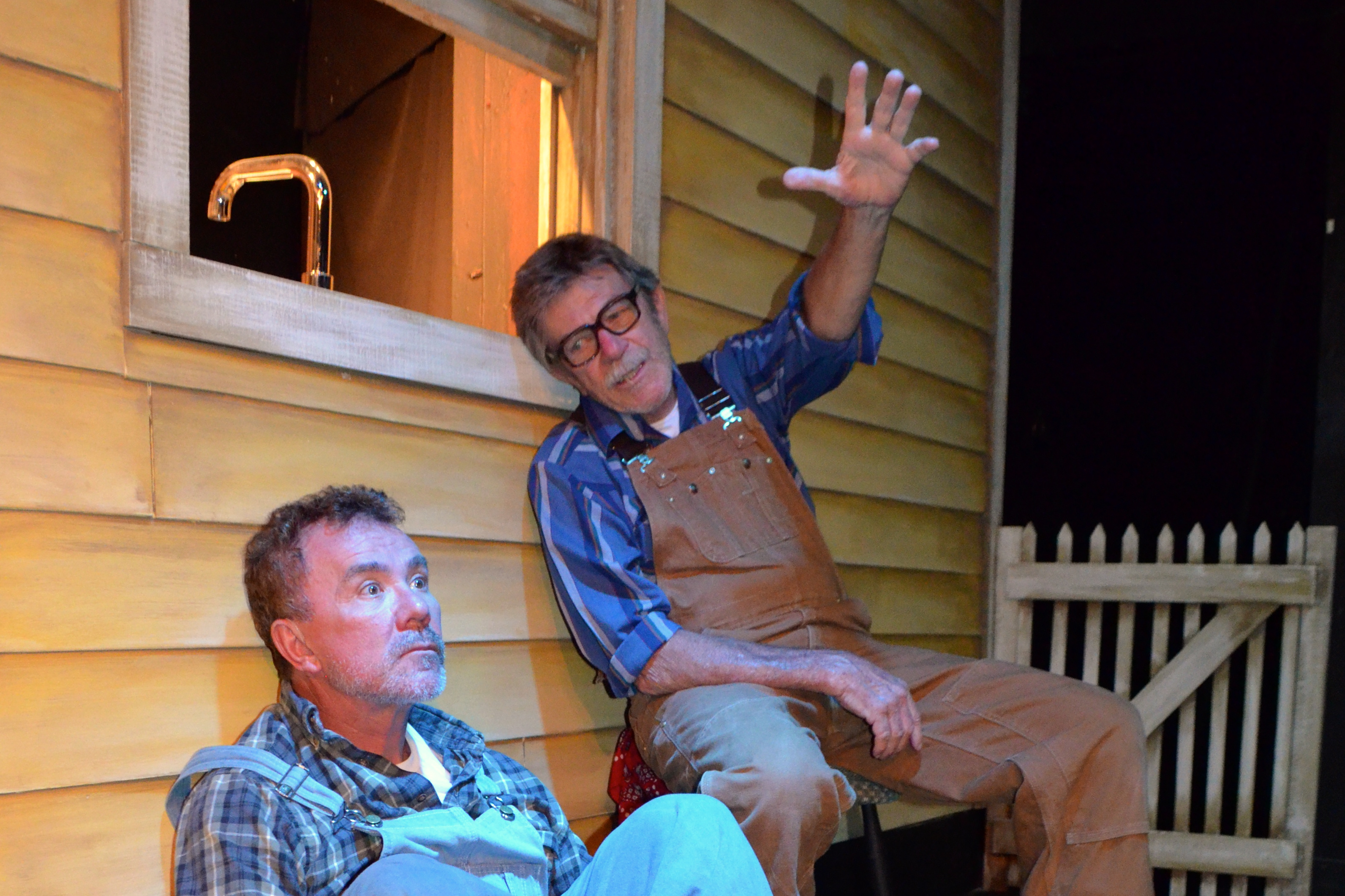 Mark Kroczynski and Jim Gibbons in Thinking Cap Theatre's The Drawer Boy