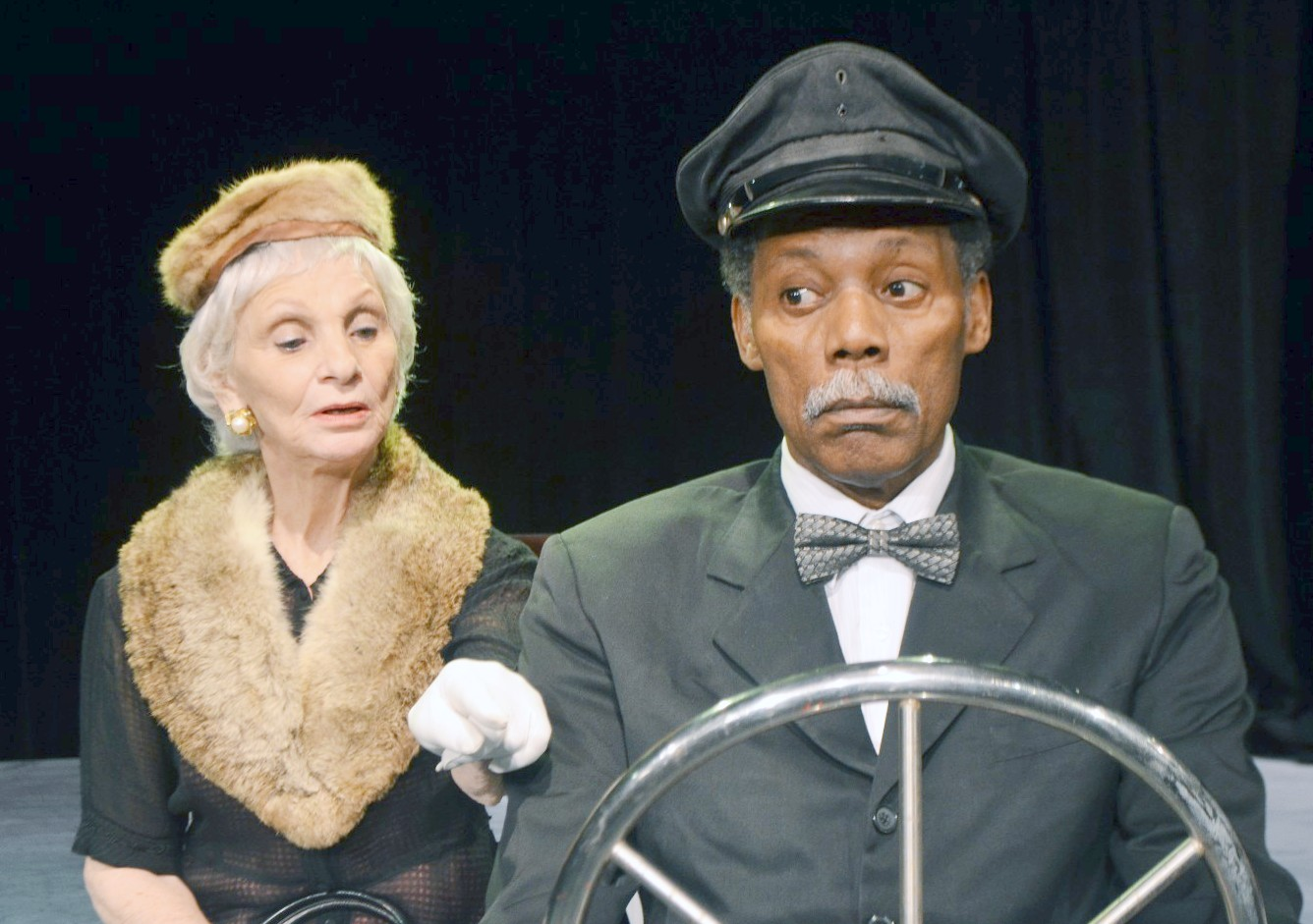 Harriet Oser and John Archie in Plaza Theatre's Driving Miss Daisy