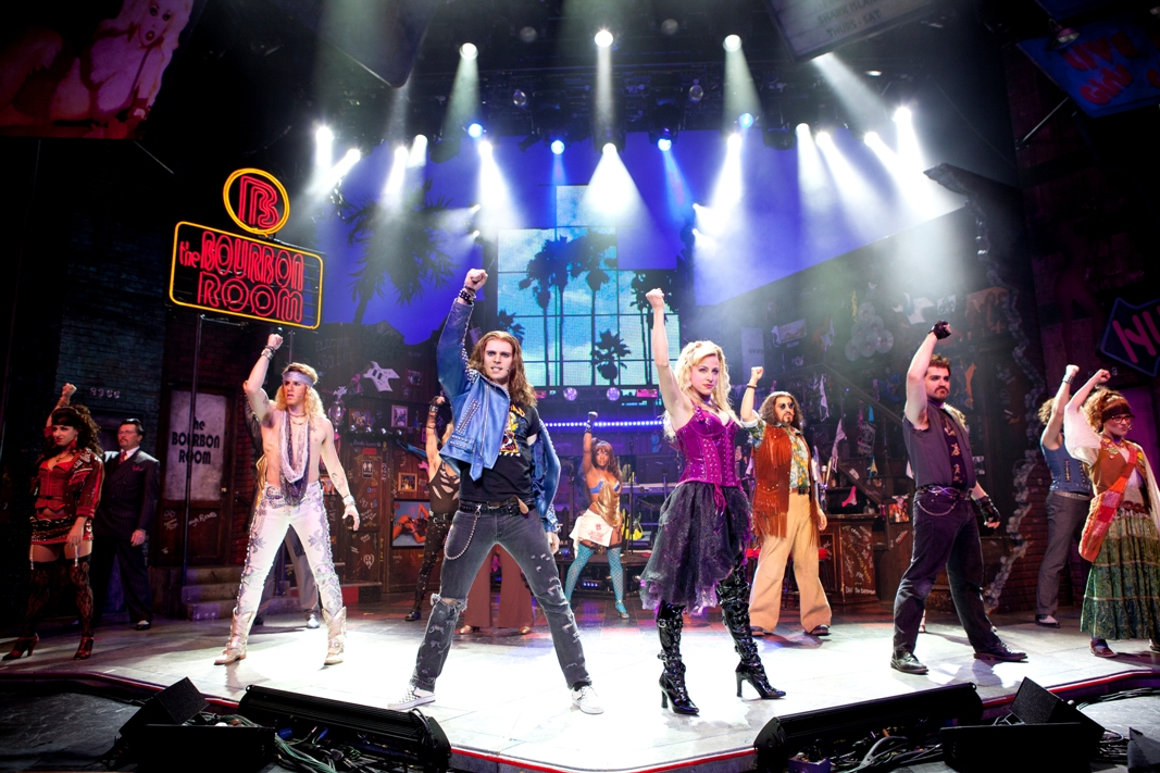 Rockin' the house with the national tour of Rock of Ages Photo by Scott Suchman