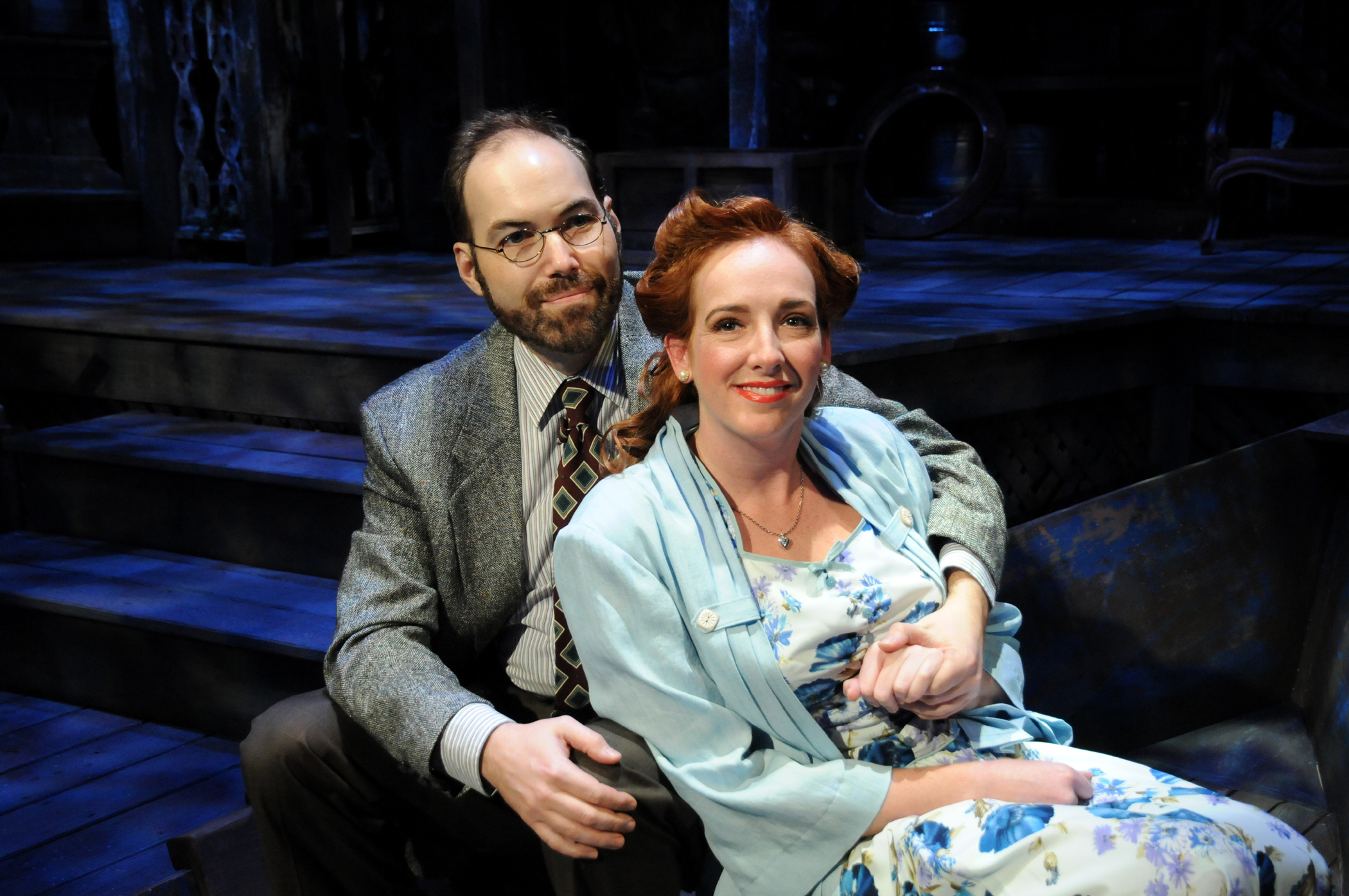 Brian Wallace and Erin Joy Schmidt finally connect in Palm Beach Dramaworks' Talley's Folly / Photo by Alicia Donelan