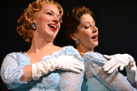 Kelly Shook and Julie Kleiner sings Sisters from White Christmas at The Wick Theatre / Photos by Amy Pasquinto
