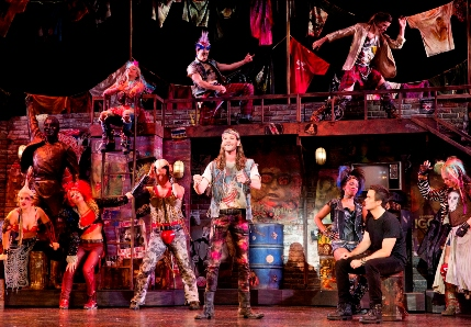 The cast of the national touring company of We Will Rock You / Photo by Paul Kolnik