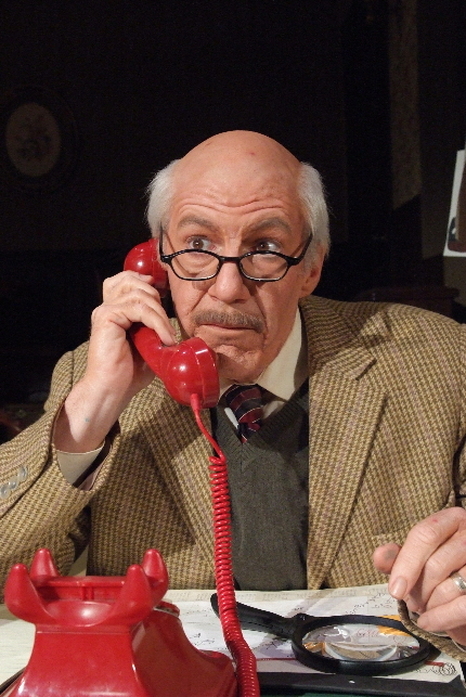 Tom Dugan as the title character in Wiesenthal at Broward Stage Door