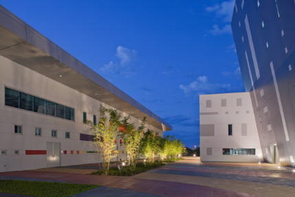 New Theatre will perform in the building on the left in the complex at the South Miami-Dade Cultural Arts Center/ Photos by Robin Hill