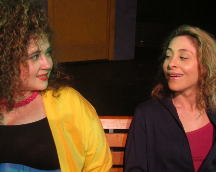 Casey Dressler and Valentina Izarra in Kutumba Theatre's Julie Johnson
