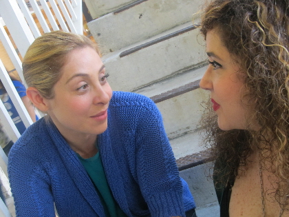 Valentina Izarra (left) plays Julie Johnson and Casey Dressler plays Claire ijn Kutumba Theatre's Julie Johnson