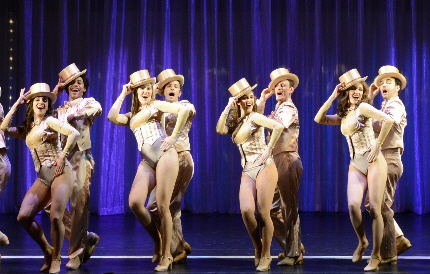 The ensemble in the finale of Maltz Jupiter Theatre's A Chorus Line / Photo by Alicia Donelan