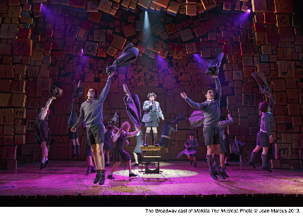 The students go wild in Matilda