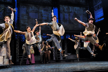 The adorable dancing newsboys in Disney's Newsies, among the offerings through Broadway Across Miami next season / Photo by Deen Van Meer