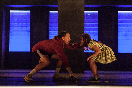 John Clarence Stewart and Sally Diallo_as brother and sister in brownsville song / Photo by Bill Brymer