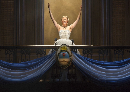 Caroline Bowman as Evita / Photo by Richard Termine