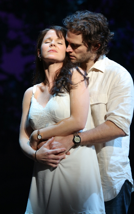 Hot enough for you? Kelli O'Hara and Steven Pasquale clinch in The Bridges of Madison County / Photo by Joan Marcus