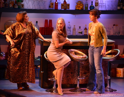 Margot Moreland, Shelley Keelor and Katie Angell Grant are on the prowl in Cougar the Musical at The Plaza Theatre / Photo by Tina Valant