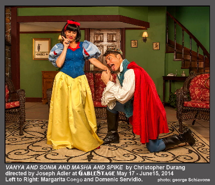 You have to see this to understand it, but it's not children's theater by a long shot: Vanya and Sonia and Masha and Spike opens at GableStage this month / Photo by George Schivone