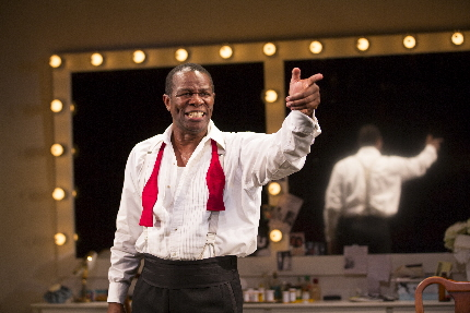 John Douglas Thompson as Louis Armstrong in Satchmo at the Waldorf / Photo by T. Charles Erickson