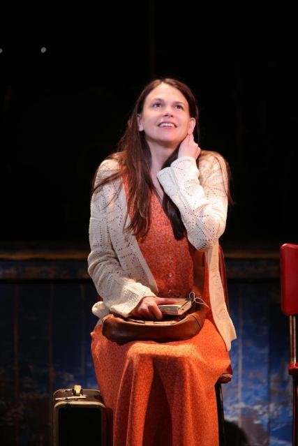 Sutton Foster as the title character in Violet / Phoo by Joan Marcus
