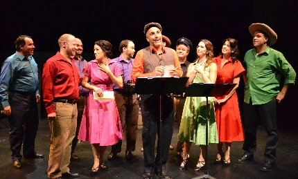 Wiiliam Michals leads the cast in the title song of The Most Happy Fella at Palm Beach Dramaworks / Photos by Samantha Mighdoll
