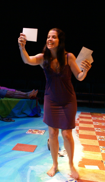 Tanya Bravo discovers her parents' secrets in The Cuban Spring at New Theatre / Photos by Eileen Suarez