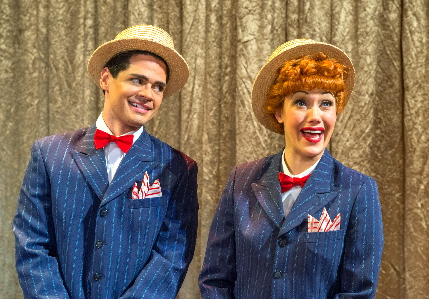 Euriamis Losada (Ricky Ricardo) and Thea Brooks (Lucy Ricardo) in the national tour of I LOVE LUCY® LIVE ON STAGE /(Photo by Justin Namon)