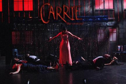 Anne Chamberlain burns down the house and everything else in Carrie The Musical from Slow Burn Theatre Company Theeverything else down
