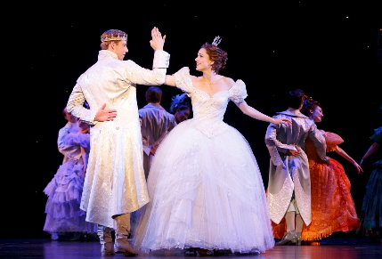 Andy Jones and Paige Faure savor love at first gavotte in Rodgers + Hammerstein's Cinderella / Photos by Carol Rosegg