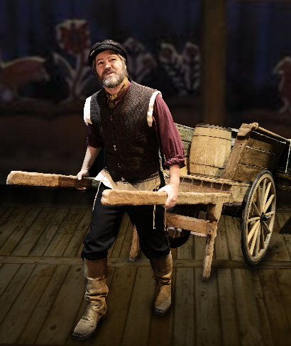 Robert Petkoff as Tevye in the Maltz Jupiter theatre's Fiddler On The Roof / Photo by Alicia Donelan