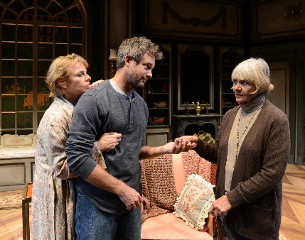 Angelica Page, Tim Altmeyer and Estelle Parsons try to get along in Palm Beach Dramawork's production of Israel Horovitz's My Old Lady / Photo by Alicia Donelan