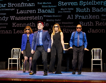 Patti Gardner, Mike Westrich, Cassie Levine and Avi Hoffman do-wop during Stars of David: Story To Song / Photo by Ian Ibbetson