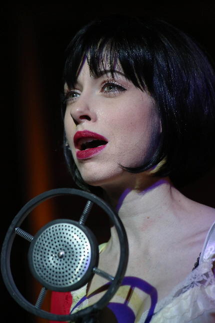 Katherine Amadeo as Sally Bowles in Broward Stage Door's Cabaret / Photo by George Wentzler