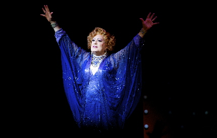 "Lee Roy Reams declaring ""I Am What I Am"" in The Wick Theatre's La Cage aux Folles / Photos by Amy Pasquantonio"