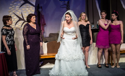 """Bride"" Gladys Ramirez is having a meltdown in front of family and friends at  a ""divorce ceremony"" in Undo at Parade Productions / Photos by George Wentzler"