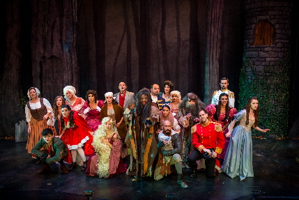 The cast of DreamCatcher Theatre/Theater Up Close's Into The Woods / Photos by Justin Namon