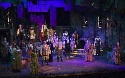 The cast of The Wick Theatre's Man of La Mancha / Photos by Amy Pasquantonio