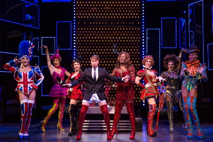 The cast of Kinky Boots lets it all go, part of next season's Broadway Across Fort Lauderdale series / Photo by Matthew Murphy
