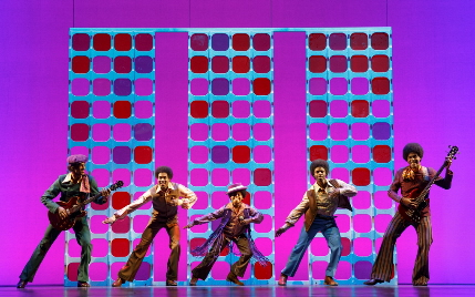 The Jackson Five come back to life on Motown the Musical / Photo by Joan Marcus