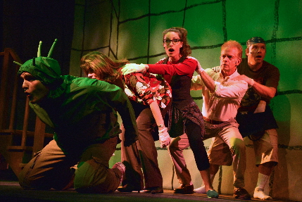 Clay Cartland and the cast of The theatre At Arts Garage's acclaimed musical The Trouble With Doug, nominated for five Carbonell Awards