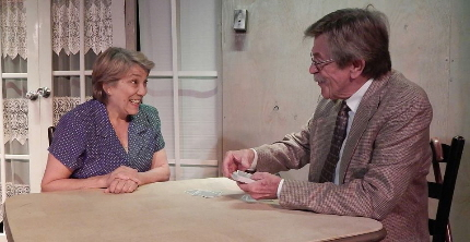 Kala Kaminsky and Jim Gibbons in Evening Star Productions' The Gin Game