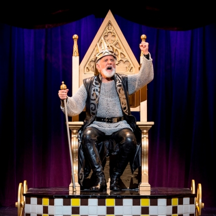 John Rubinstein as Charlemagne in the national tour of Pippin / Photo by