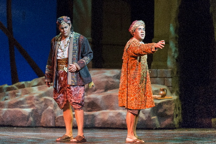Corey McKern and Philippe Talbot as the close friends about to be divided in Florida Grand Opera's The Pearl Fishers / Photos by Rod Millington