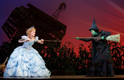 Carrie St. Louis and Alyssa Fox square off the national tour of Wicked at the Arsht Center / Photo by Joan Marcus