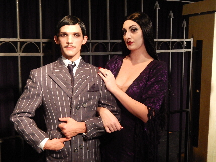 George Macia and Samantha Streich make an odd couple in The Addams Famly at Evening Star Productions / Photo by Carol Kassie