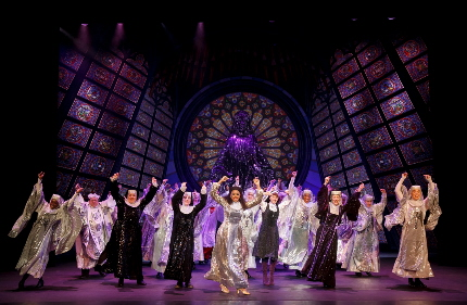 The cast of Sister Act raises the roof on the national tour at the Arsht / Photo by Joan Marcus